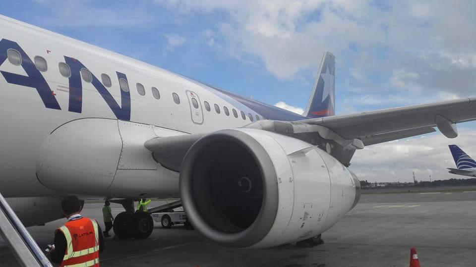 Este fue el avión que sufrió el percance el jueves, en el vuelo Bogotá-Santa Marta.