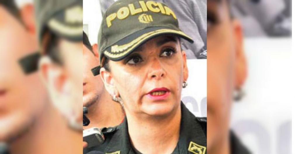 Sandra Vallejos, comandante de la Policía Metropolitana de Santa Marta.