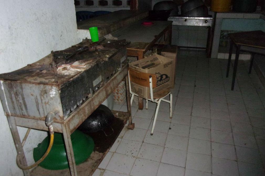 La situación de esta estufa en el colegio Luis Carlos Galán habla por sí sola de la precaria situación.