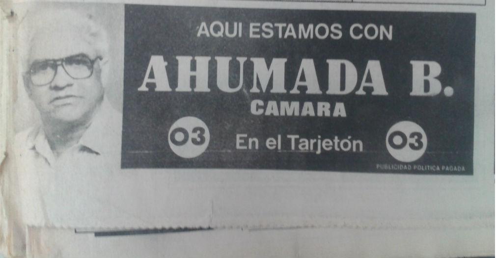 Al momento de su muerte, Rodrigo Ahumada aspiraba a una curul a la Cámara de Representantes.