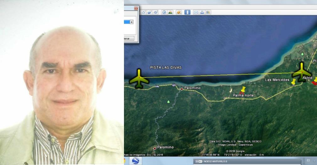 La aeronave era conducida por el capitán Carlos Alberto Villar.