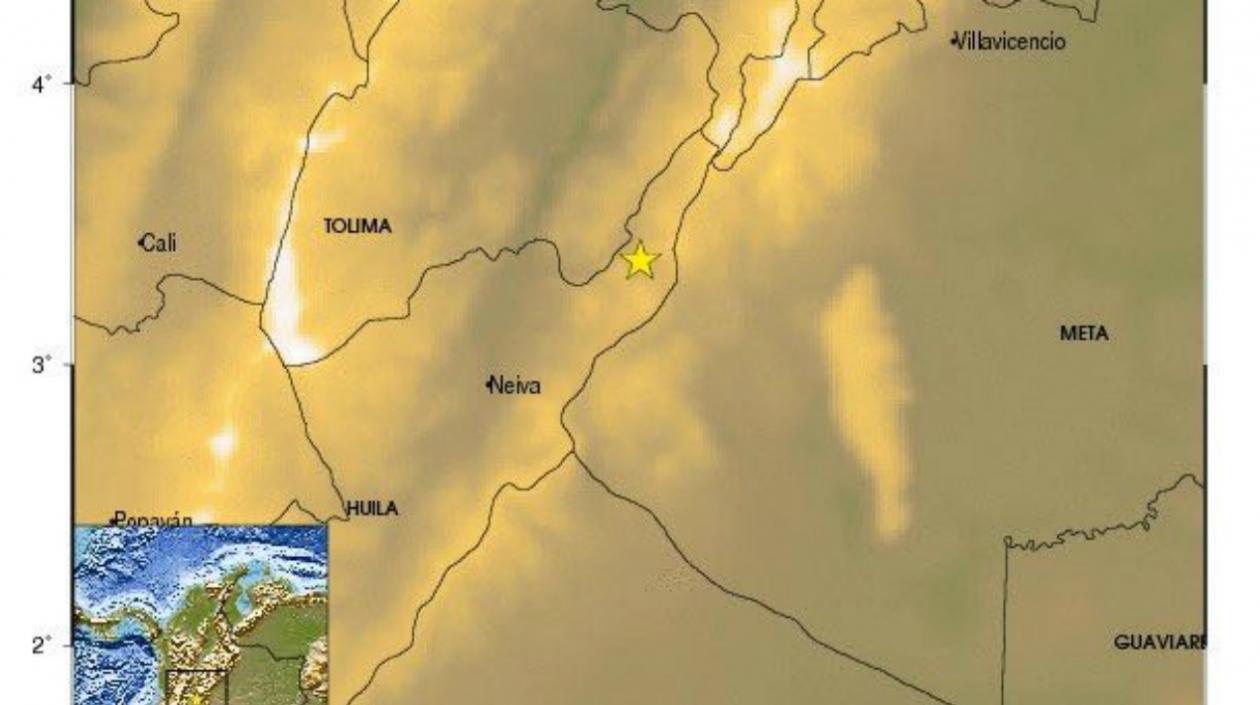 Esta imagen registra el epicentro del temblor.