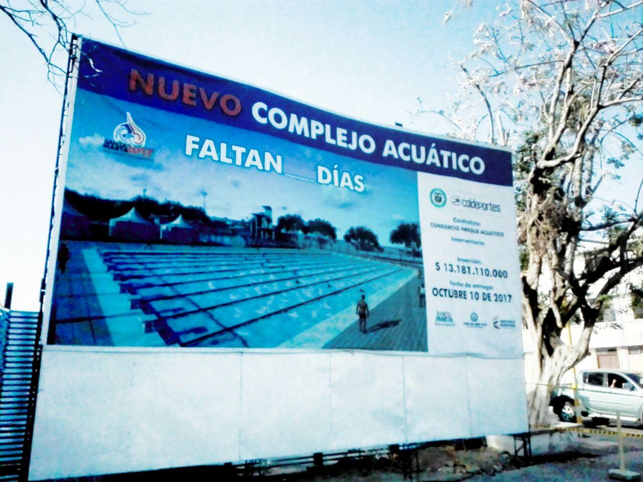Complejo acuático (piscina olímpica). NO tiene conteo regresivo.