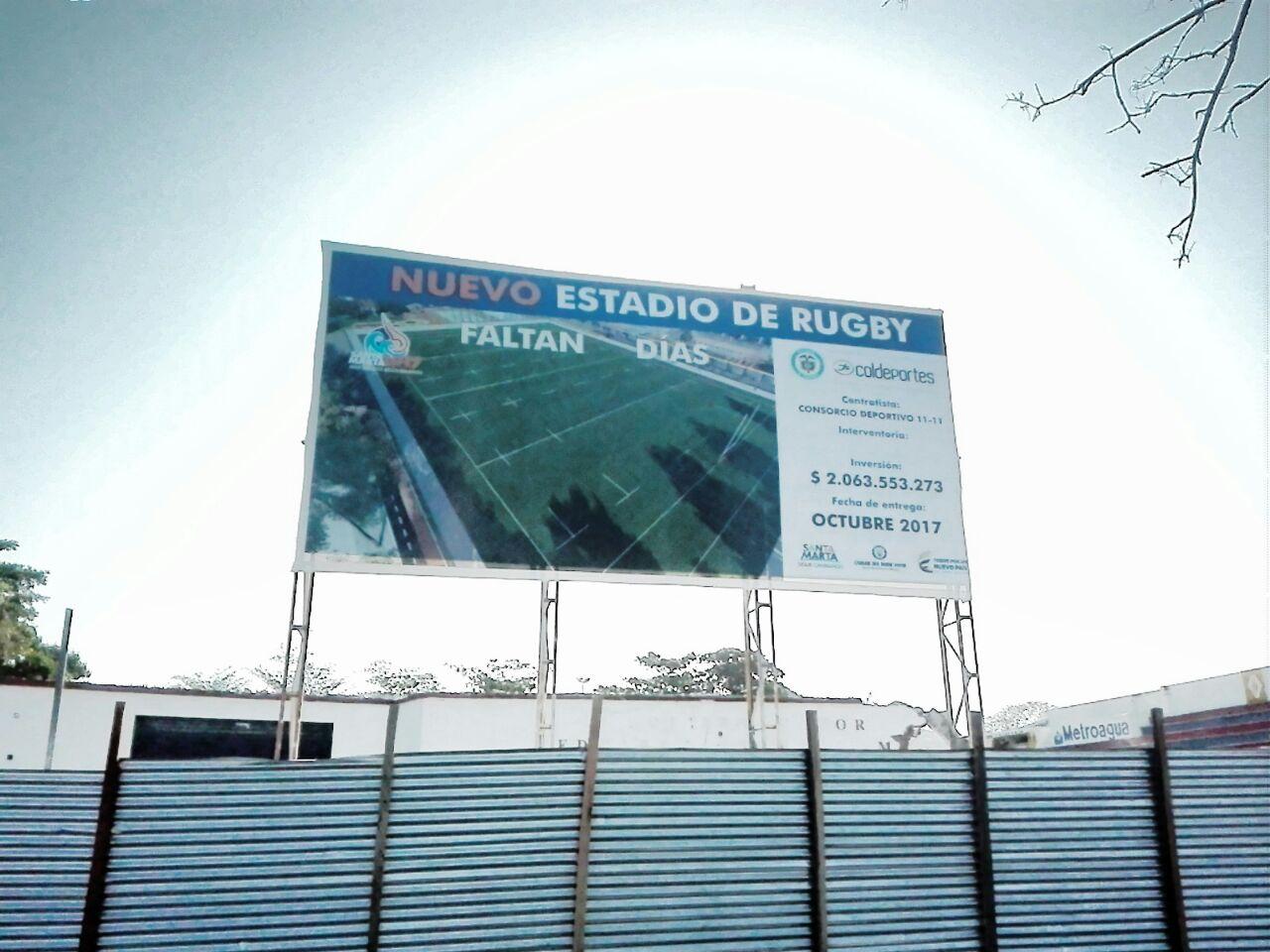 Estadio de Rugby. NO tiene conteo regresivo.