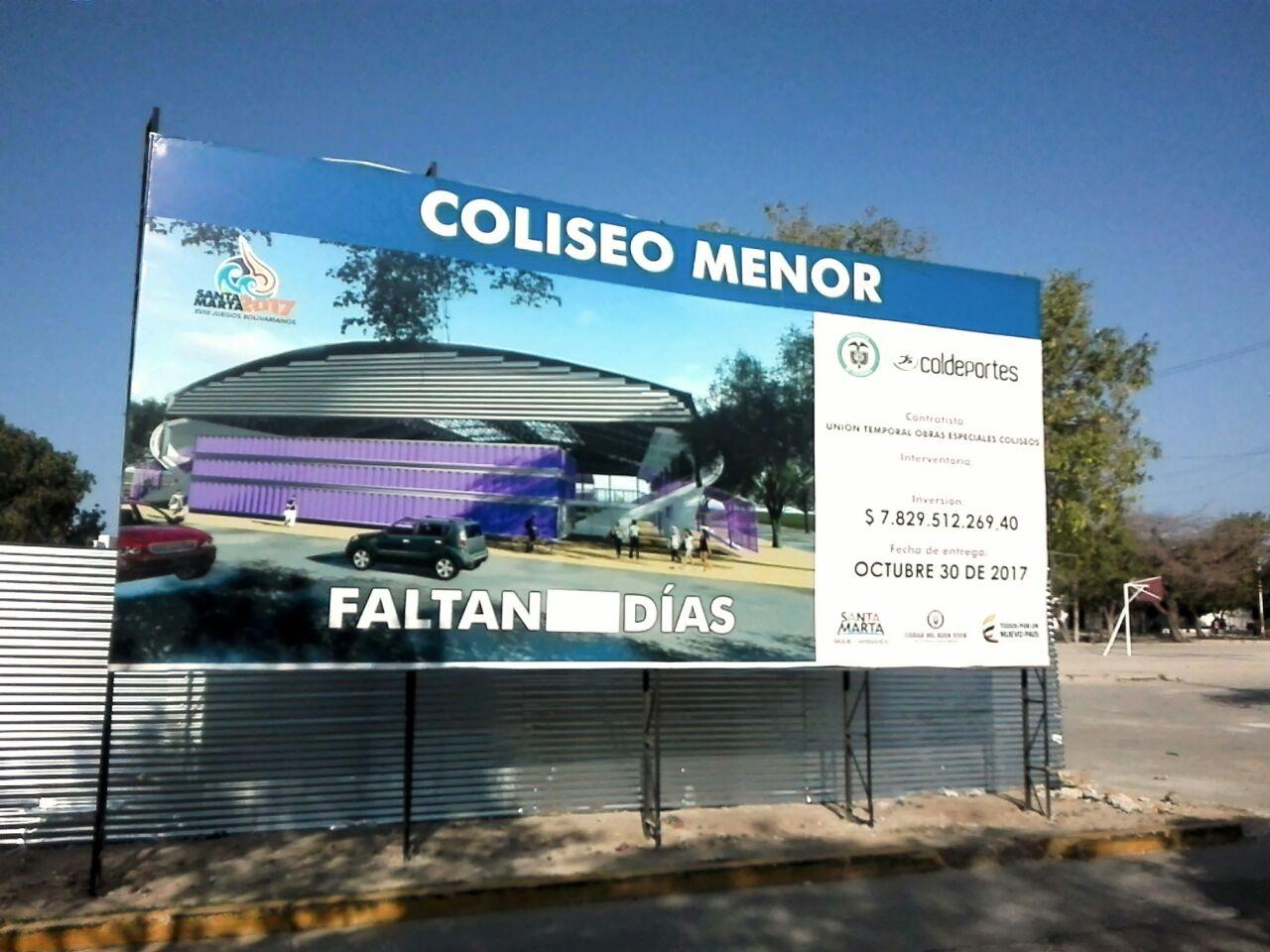 Coliseo Menor (estadio microfútbol). NO tiene conteo regresivo.