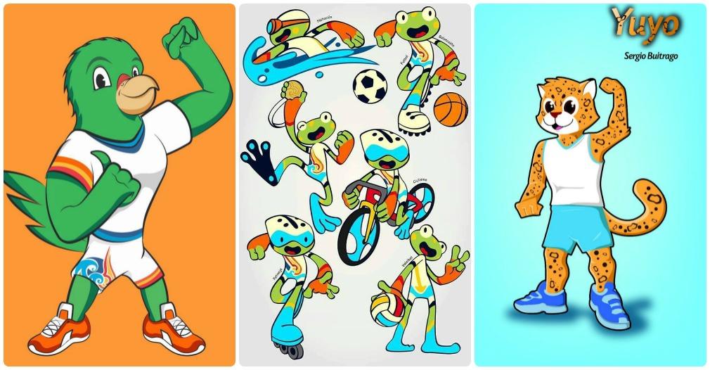 Estas fueron los tres diseños preseleccionados en su momento por la Organización de los Juegos Bolivarianos.