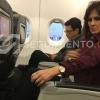 Rosa Cotes y Carlos Caicedo tuvieron un amargo vuelo en sillas contiguas.