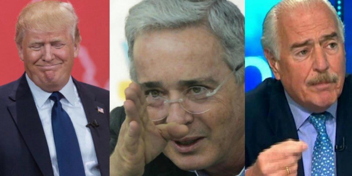 Trump, Uribe y Pastrana