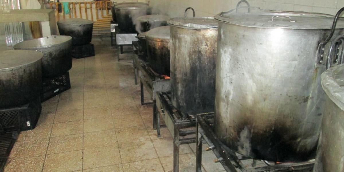 Cocina de la cárcel Rodrigo de Bastidas.
