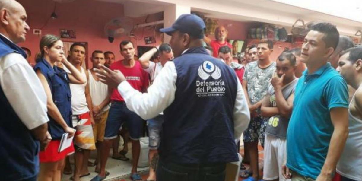 Defensoría visitó la cárcel Rodrigo de Bastidas.