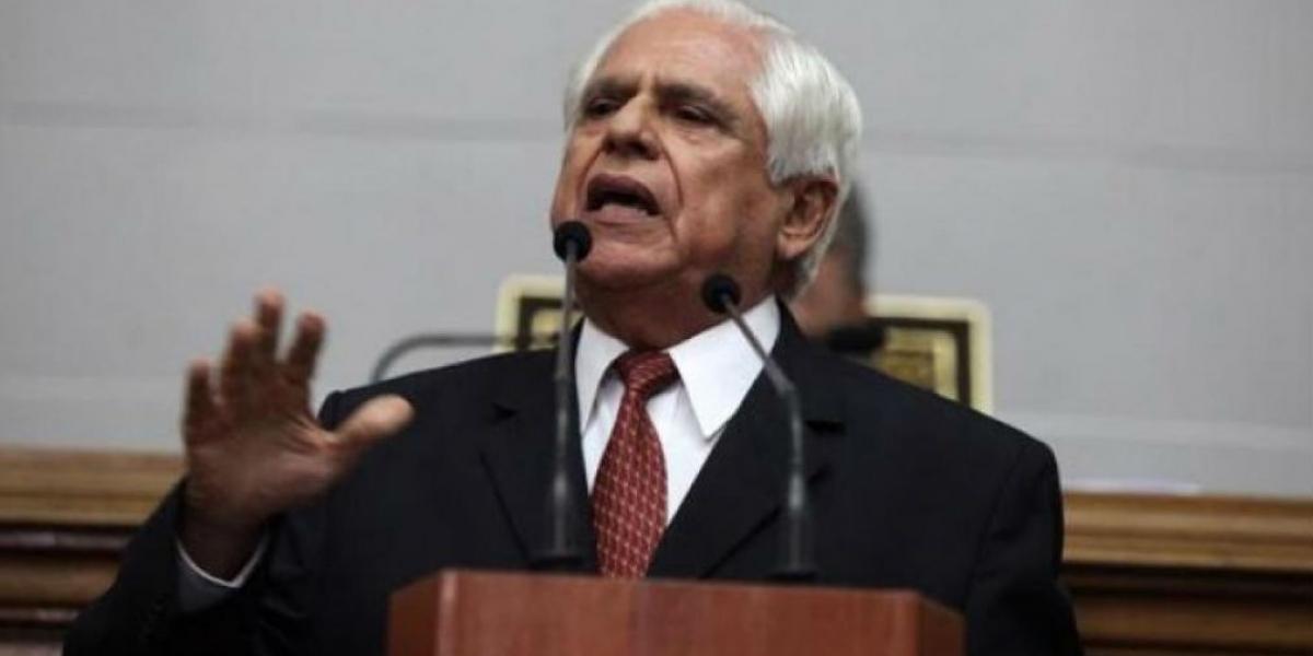 El presidente del Parlamento venezolano, el opositor Omar Barboza.
