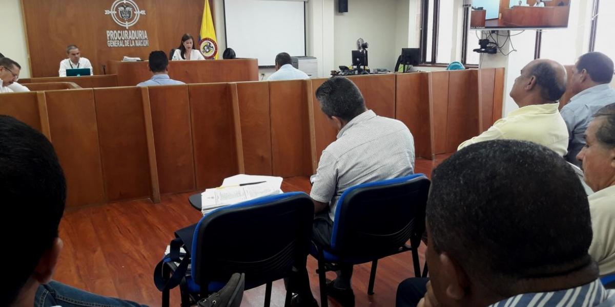 Audiencia concejales de Valledupar.