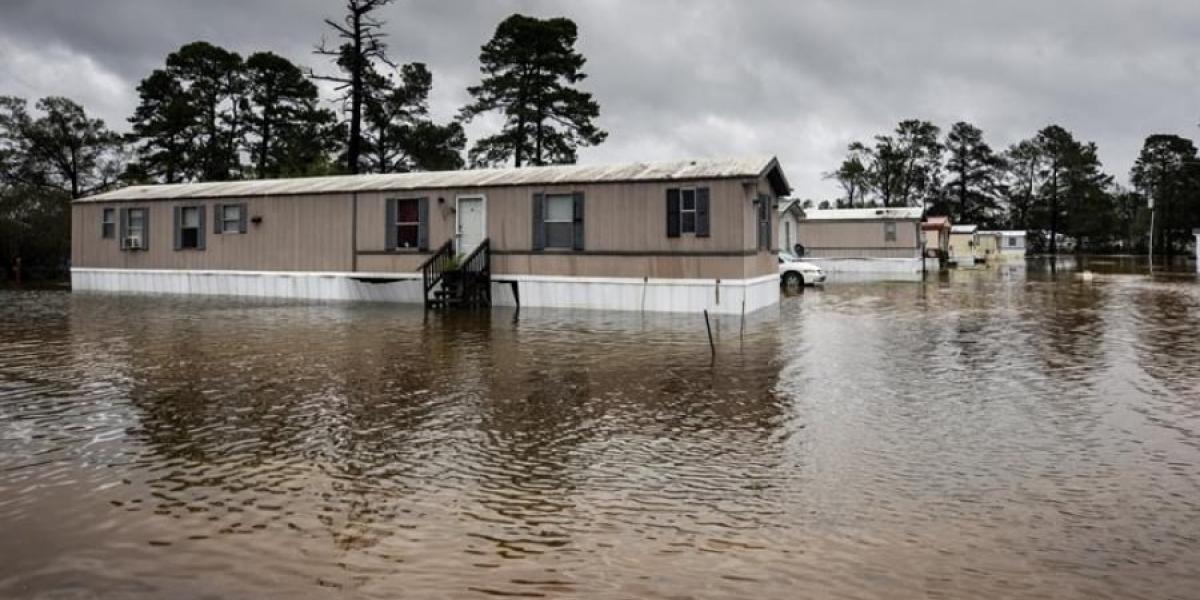 Inundaciones ocasionadas por 'Florence'.