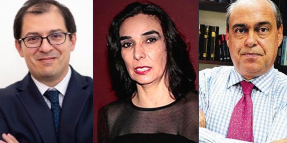 Francisco Barbosa Delgado, Clara María González y Camilo Gómez Alzate.