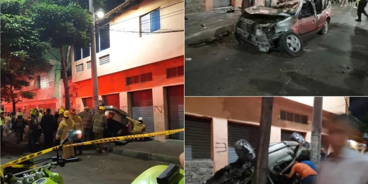 Así quedó el vehículo, tras el accidente.