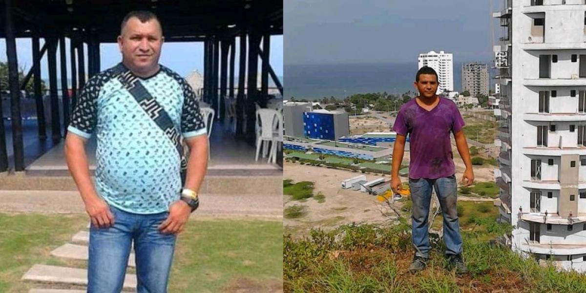 Carlos Arturo Ospino Navarro (izq.) y su hermano Armando (der.), fueron las víctimas del ataque a bala en el sector de Playa Salguero.