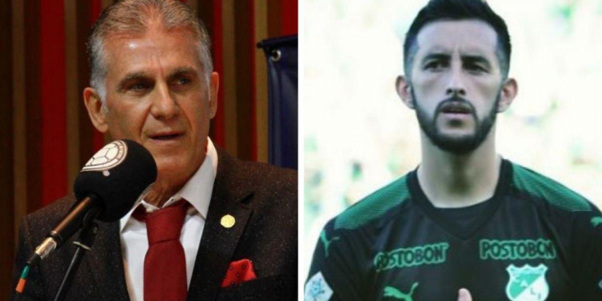 Carlos Queiroz y Camilo Vargas.
