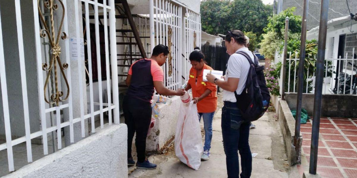 Reciclaje en Santa Marta.