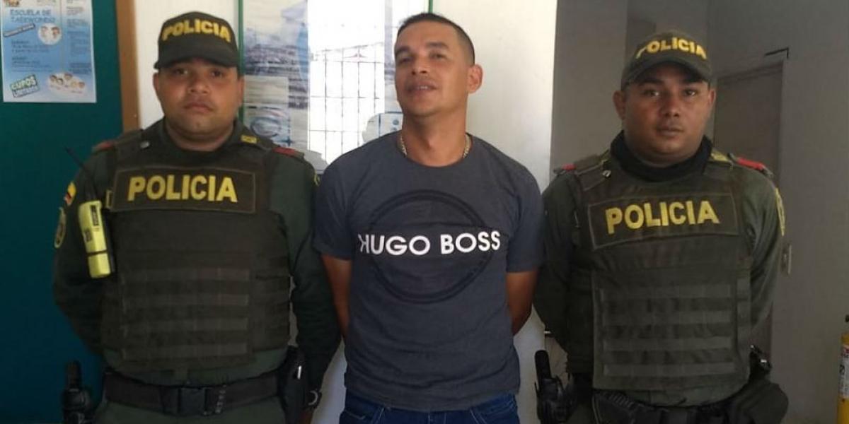 Miguel Alfonso Moreno, militar capturado.