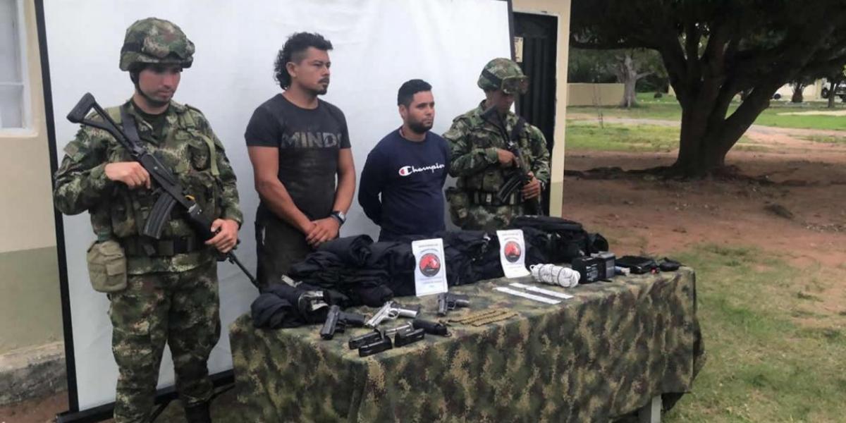 Capturados por el Ejército y la Fuerza Aérea en el sur de Bolívar.