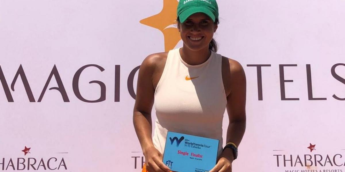 La tenista barranquillera María Paulina Pérez García.
