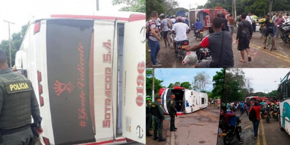 Accidente en la ruta Montería-Cartagena