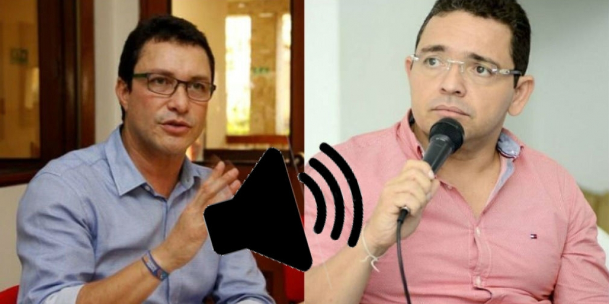 Carlos Caicedo y Rafael Martínez, en el segundo audio filtrado.