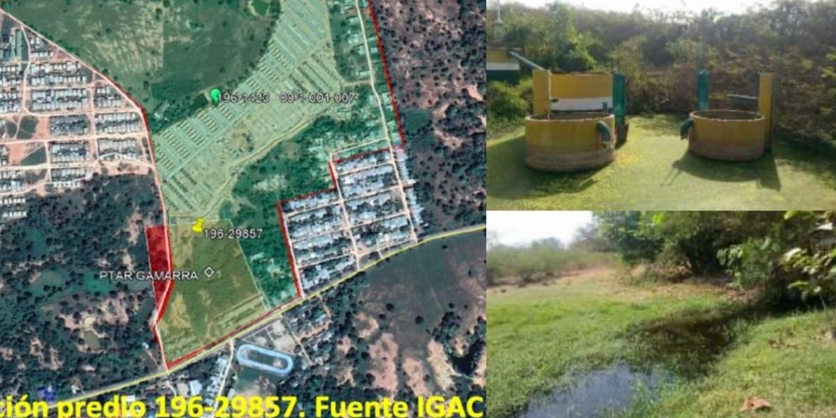 Imágenes de la planta de tratamiento de aguas residuales.