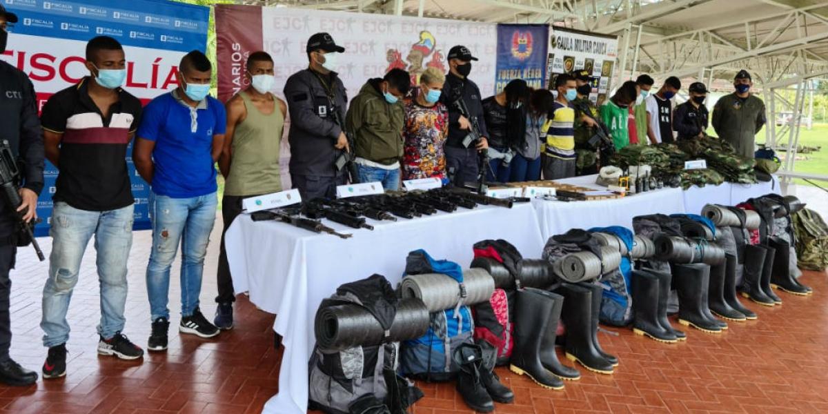 Capturados en Cajibío, Cauca.