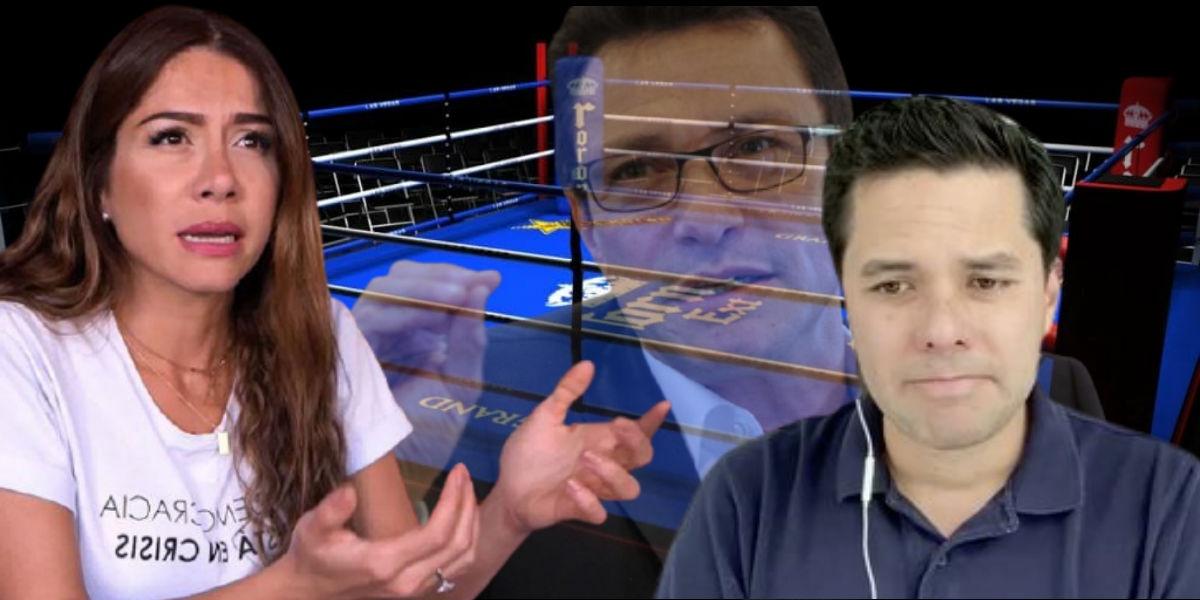 Cathy Juvinao y Luis Carlos Vélez discutieron en Twitter. Caicedo fue nombrado en la discusión.