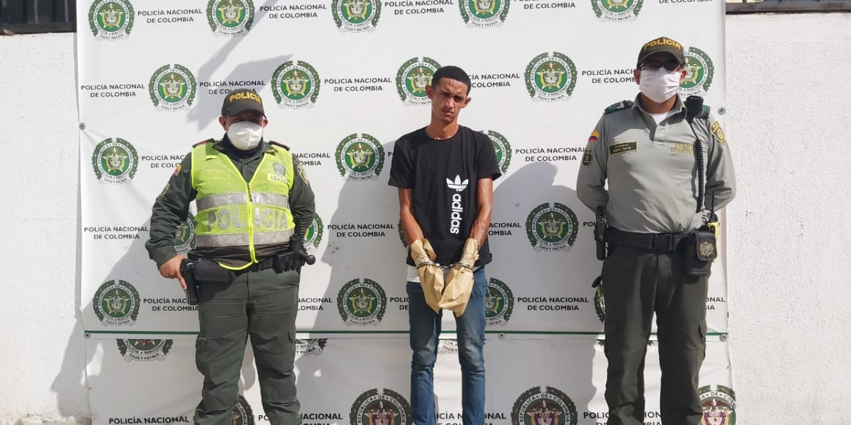 Yoelis Guzmán Jorlangel Guerra fue el presunto sicario capturado.