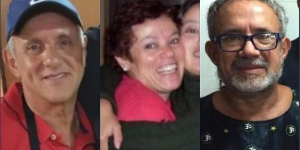 Los tres hermanos fallecidos, Paulo, María y Clóvis.