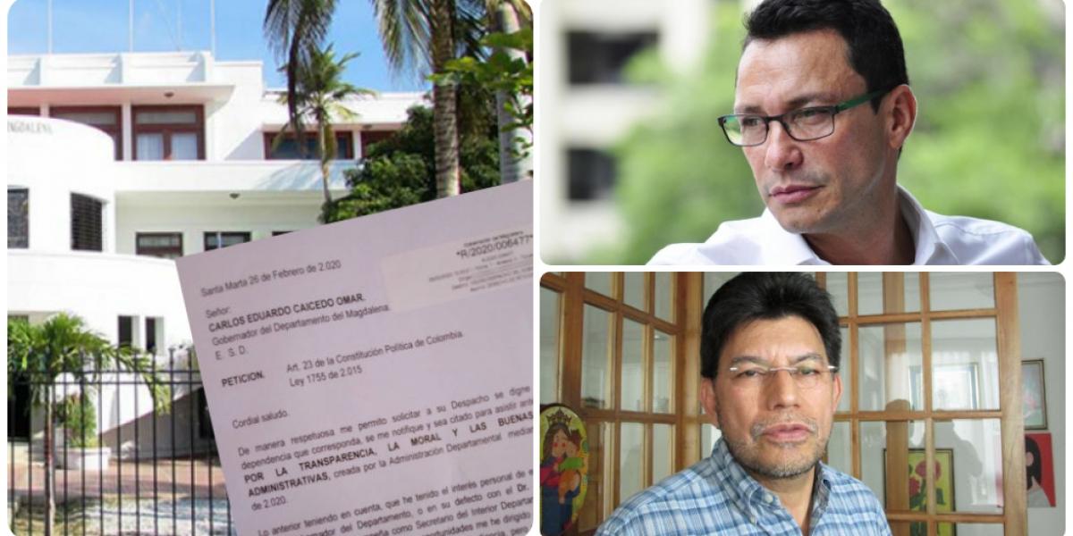 Desde febrero fue radicada una solicitud del denunciante para reunirse con Carlos Caicedo a través de la Comisión de Moralización.