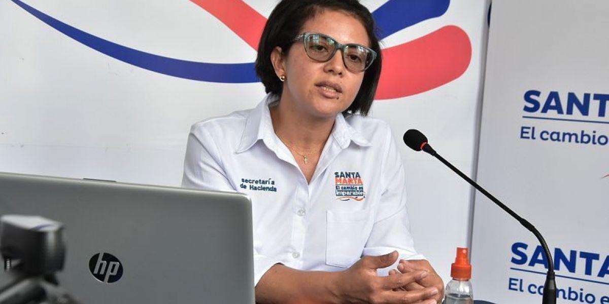 Ingrid Llanos, secretaria de Hacienda.
