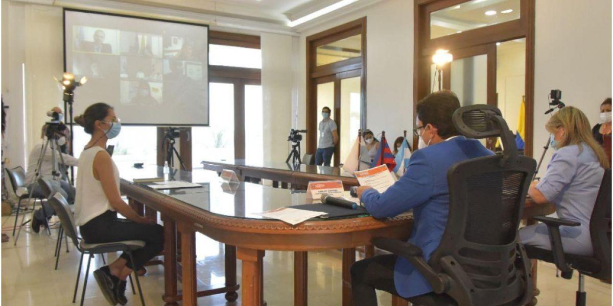 El convenio busca el intercambio de experiencias, para fortalecer la educación, el turismo y el desarrollo económico y productivo.