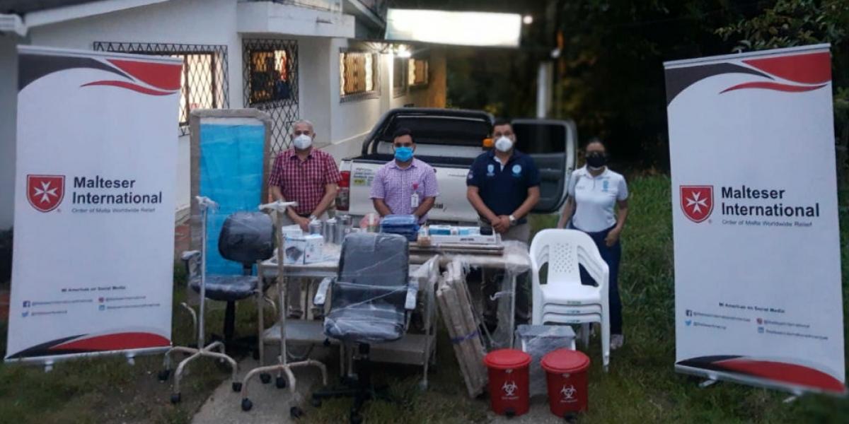 Donación de Malteser International a puestos de salud del Distrito.