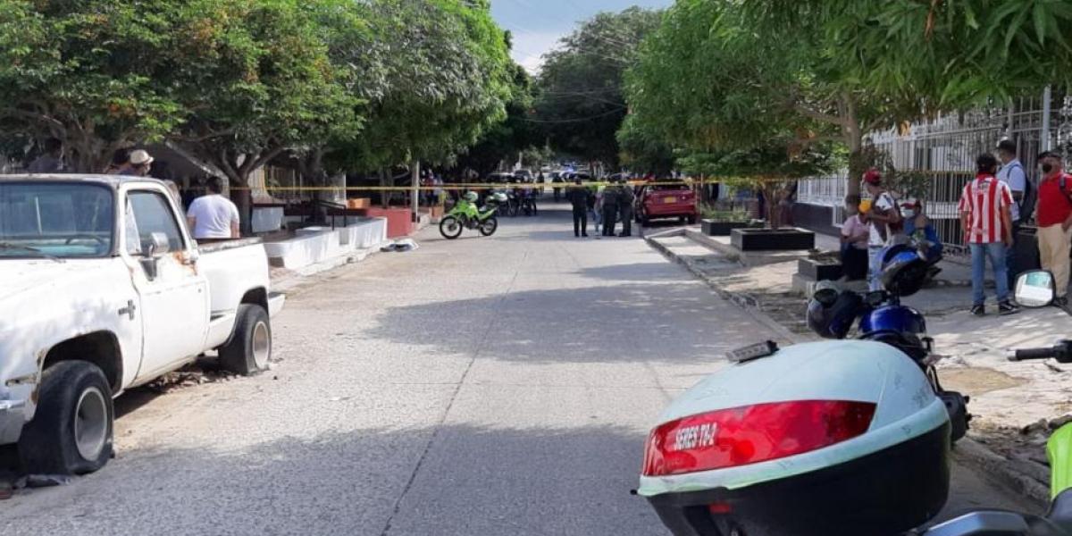 atraco en Barranquilla, ocurrido este sábado.