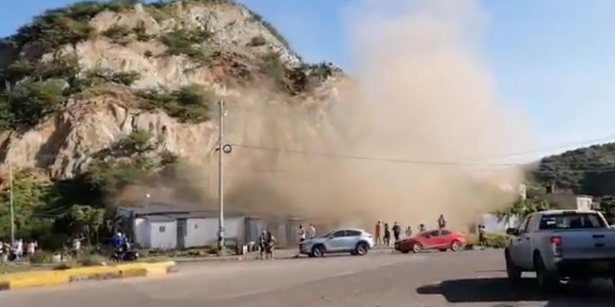 Deslizamiento en San Martín.