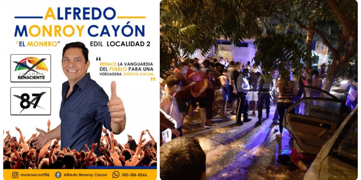 Alfredo Rubén Monroy Cayón, asesinado este viernes.