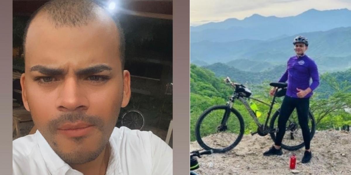 Jhonatan Ternera, ciclista que murió arrollado por un motociclista en Santa Marta.