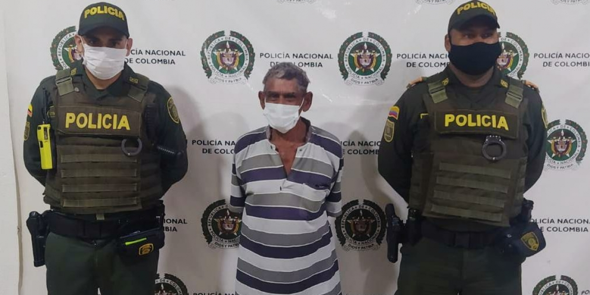 Julio Cuello Jiménez, capturado.
