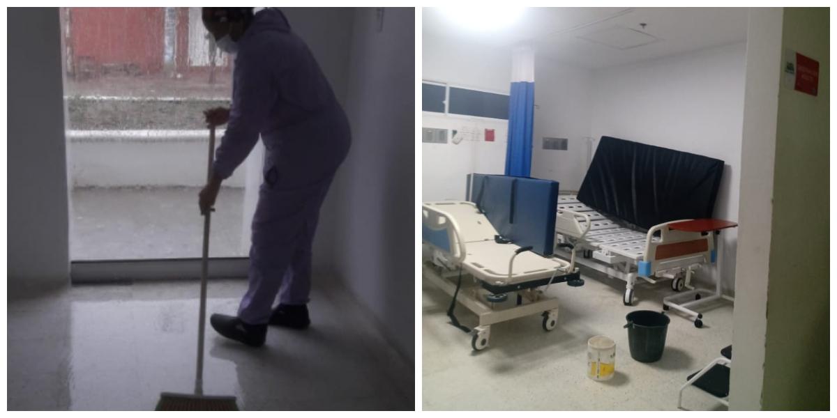 Los Centros de Salud se inundan por dentro cuando llueve.