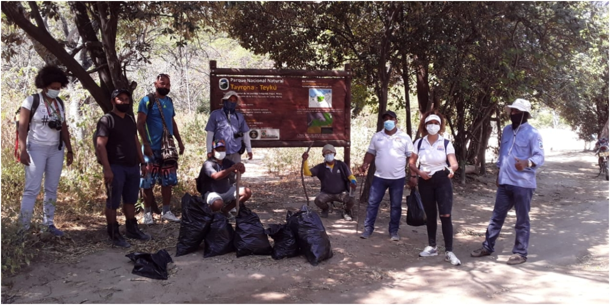 Con jornada de limpieza el Parque Natural Tayrona se alistó para reabrir este martes.