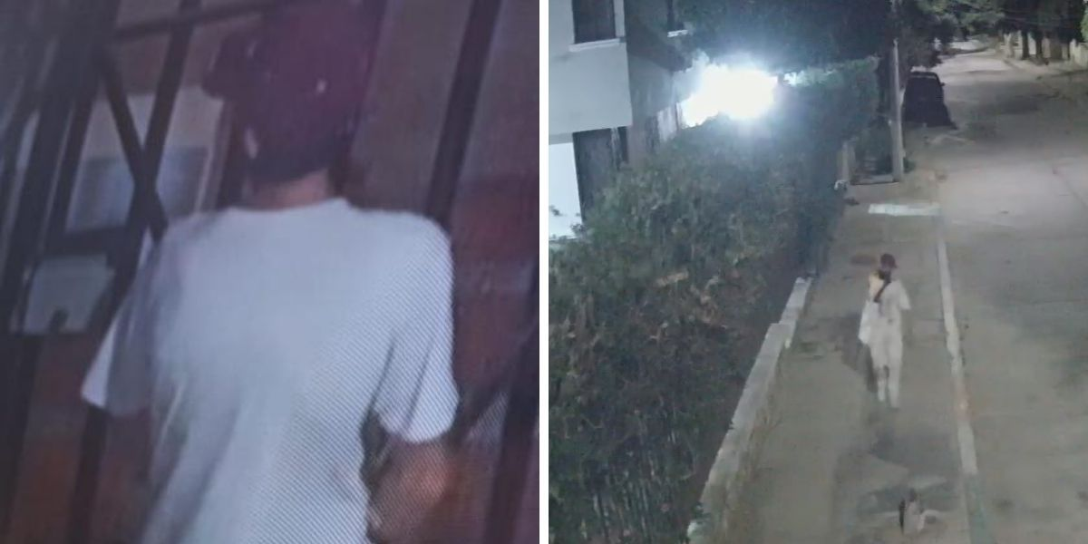 El sujeto violentó la seguridad del conjunto residencial.