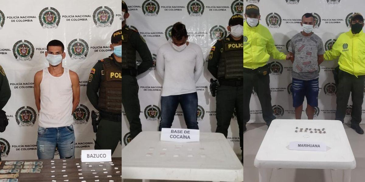 Las aprehensiones se llevaron a cabo en los barrios Chapinero y Santa Rosa.