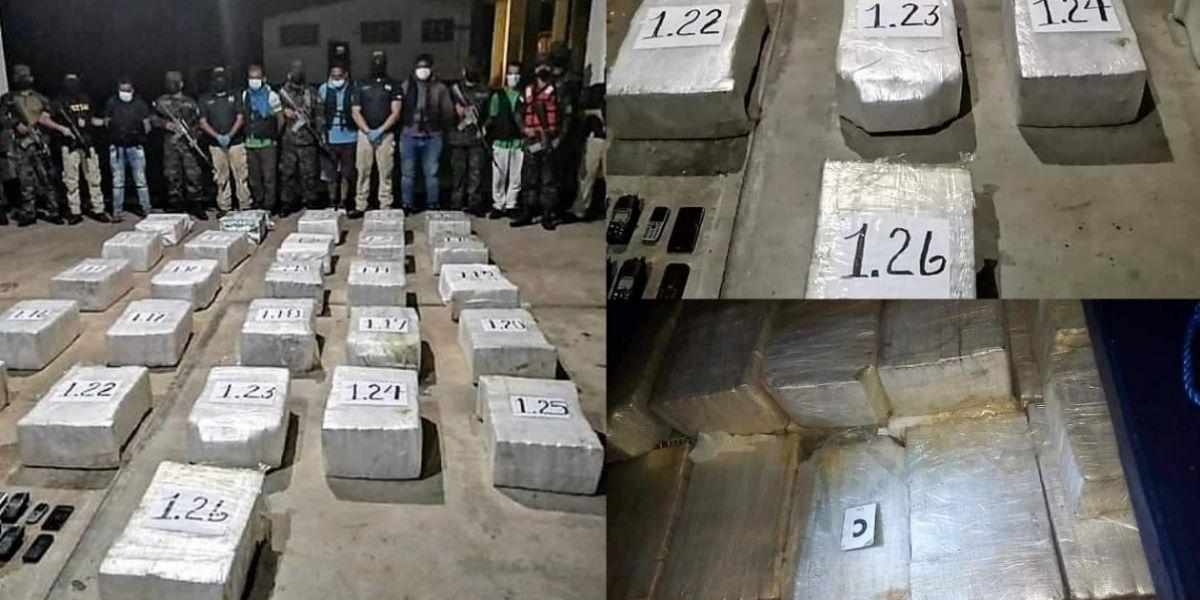 Incautación de cocacína en el Mar Caribe