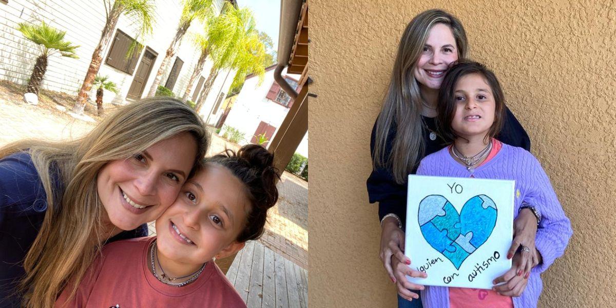 Andrea Victoria Elías Martínez, una menor samaria diagnosticada con autismo desde que tenía 2 años y 3 meses.