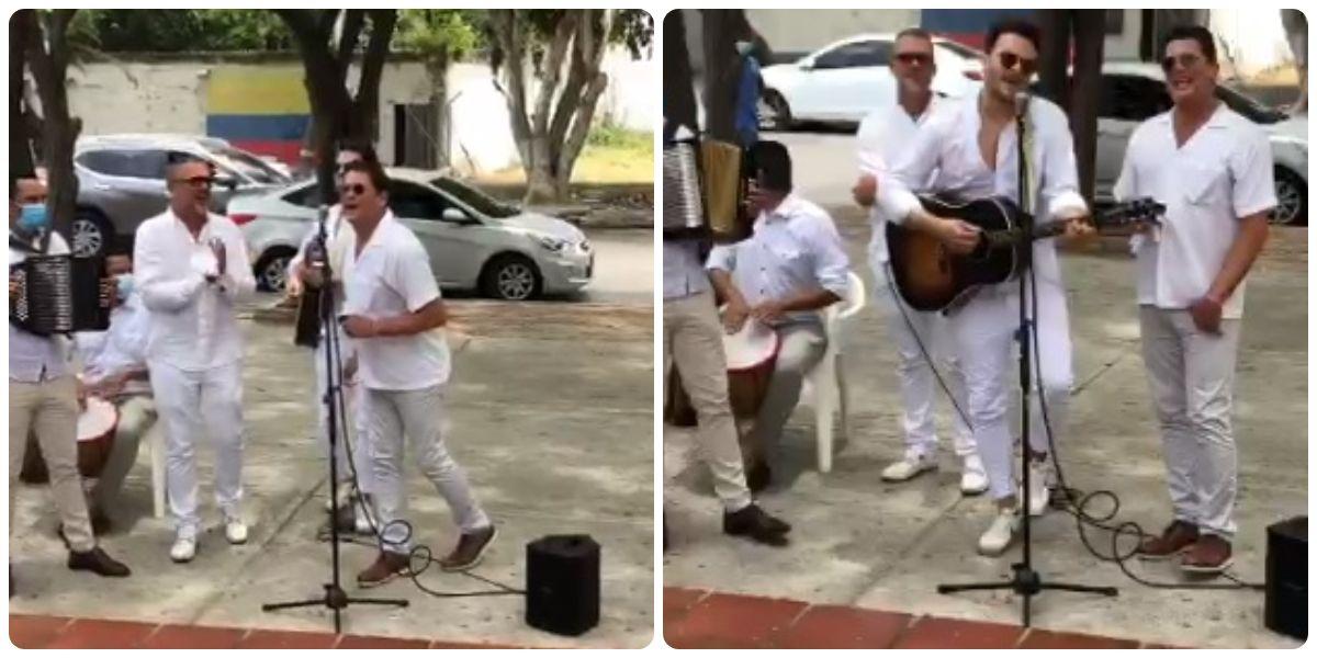 Carlos y Guillermo Vives le rindieron homenaje a su papá.
