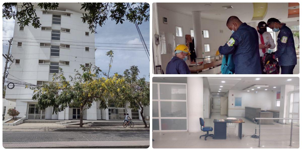 El personal ya trabaja en la clínica SaludCoop para activarla y habilitar camas UCI.