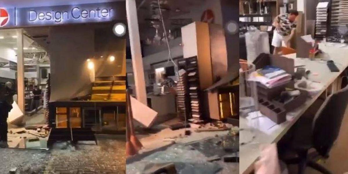 Los establecimientos quedaron totalmente vandalizados y saqueados.